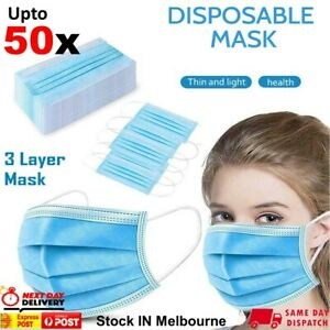 Medical Face mask Surgical Grade FaceMask Disposable Masks 3 Layers UPTO 50pcs