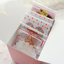 100Pcs Clear Cake Gift OPP Plastic Self Adhesive Seal Package Bag Practical Hot