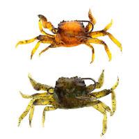 Attirail de Peche Leurre Souple Crabe Artificiel Crochet G3O9