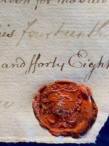 1748 ANTIQUE ENGLISH MANUSCRIPT