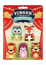 5 x Finger Puppets Animals Christmas Play Story Hand Toy Set