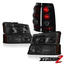 "2003-2006 Chevy Silverado 6PC ""SINISTER BLACK"" Turn Signal Headlight Tail Lights"