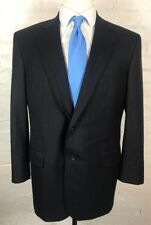 BROOKS BROTHERS Blazer 42R Golden Fleece Black Blue Pinstriped Sport Coat Jacket