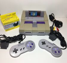 SNES Super Nintendo Console System Bundle Super Mario World TESTED WORKS!