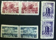 POLAND STAMPS MNH 1Fi459-61 Sc422-24 Mi491-93 - Day of the sea,1948,clean