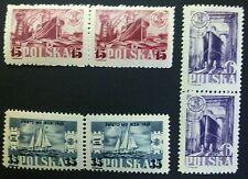 POLAND STAMPS MNH 1Fi459-61 Sc422-24 Mi491-93 - Day of the sea, 1948, **