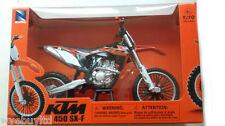 Da collezione KTM SXF 450 2014 Motocross Arancione Bici Modello Diecast presenti 1:10