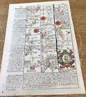 ANDOVER AMESBURY WARMINSTER OWEN BOWEN ROAD MAP C1720 FROM BRITANNIA DEPICTA