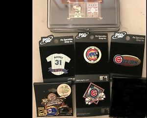 Set of 6 Chicago Cubs Logo MLB Licensed Collector Pins BLOWOUT PRICE