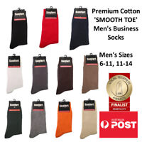 Mens Premium Cotton Business Dress Socks SINGLE PAIR