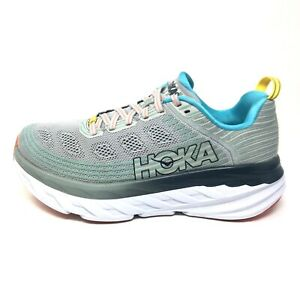 Hoka One One Bondi 6 Gray Athletic Running Shoes Sneakers Womens Sz 7.5 M (B)