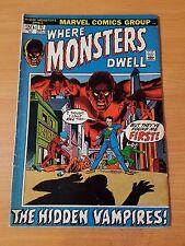 Where Monsters Dwell #17 ~ Fine Fn ~ (1972, Marvel Comics)
