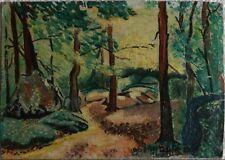 Peintures du XXe siècle et contemporaines sur panneau paysage pour Art déco