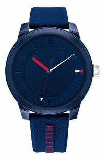 Tommy Hilfiger Blue Sport Silicone Strap Analog Men's Watch 1791745