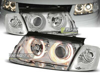 Coppia Fari Anteriori VW PASSAT B5 3B 1996-2000 Angel Eyes Cromat LPVW25-ED XINO