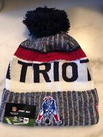 New England Patriots Beanie Cap Hat Nfl Football New Era Cuffed Knit On Field