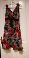 Next floaty Floral 50s Vintage Inspired Fit & Flare, a-line, Dress Size 12