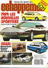 revue automobile: Echappement: N°235 mai 1988