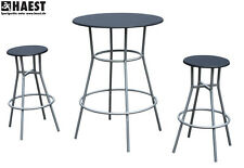 Bistrotisch mit zwei Stühlen - Bartisch Barstühle Barhocker Bar Set Barmöbel