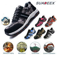 Womens Steel Toe Safety Work Shoes Outdoor Protective Construction Sneakers