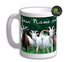 Personalised Goat Mug cup Herd mug cup. Customise with your own text. FOC. IL488