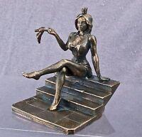 Miniaturfigur erotische nackte Gestalt Mädchen. Cinderella. 75mm. Copper figure.