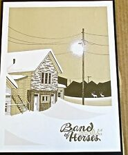 Band of Horses Band Mini-Concert Poster Reprint for 2014 Philadelphia PA 14x10
