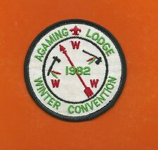 SCOUT BSA OA LODGE 257 AGAMING 1982 WINTER CONVERNTION INDIANHEAD COUNCIL MN WWW
