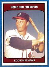1985 TCMA: Home Run Champion EDDIE MATHEWS (Milwaukee Braves) (ex-mt)