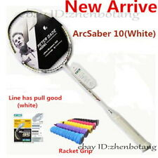 Hot ArcSaber 10 White Carbon Badminton Racket ARC 10 Badminton Racket 1 pcs
