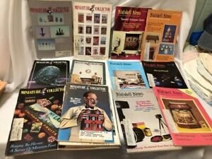 Lot of Miniature Collector and Nutshell News Magazines 1970's-80's