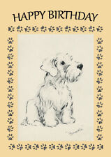 SEALYHAM TERRIER PUPPY DOG BIRTHDAY GREETINGS NOTE CARD