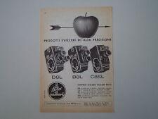advertising Pubblicità 1961 BOLEX PAILLARD CINEPRESE D8L/B8L/C8SL