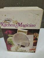 Vintage Popeil's Kitchen Magician Food Slicer Cutter 1970 (dd) (b23)