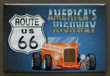 US Route 66 Americas Highway FRIDGE MAGNET Hot Rod Garage Mechanic Car Truck D10