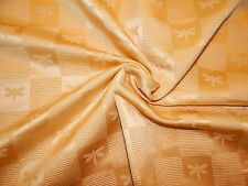 Gold Satin Upholstery Fabric, Gold Satin Fabric with Dragonflies - 2 yards