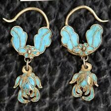 Antique Qing Dynasty Floral and Leaf Arrangement Earrings: Museum of Jewelry
