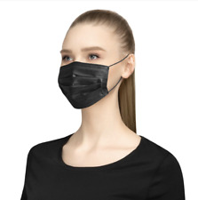 Black Disposable Face Masks - Pack of 50