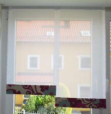 Scheibengardinen 2 x Breite 42 x Höhe 75/85 cm- neu - modern Gardine Paneel