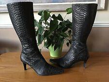 Ladies Kennel & Schmenger black lizard look under knee length boots UK 5 EU 38