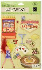Las Vegas Casino Roulette Slot Machine Chips Poker  RARE K&Company 3D Stickers