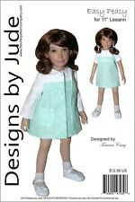 "Easy Peasy Doll Clothes Sewing Pattern 11"" Leeann Dolls"