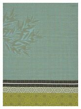 "Jacquard Francais ""Alpilles"" (Green), Woven cotton hand towel. Made in France."