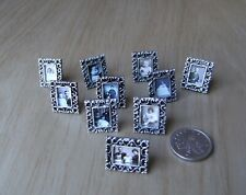 Dolls House miniature SILVER PHOTO FRAMED PICTURE Mantlepiece 1:12 VICTORIAN