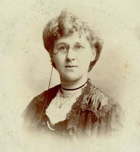 Antique Cabinet Card Photograph Victorian lady Fred Market St Manchester #18