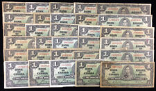 1937 Bank of Canada $1 - Lot of 30 Banknotes