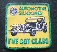 """GE AUTOMOTIVE SILICONES EMBROIDERED SEW ON ONLY PATCH CAR ADVERTISING 3"""" x 3"""""""