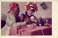 from a Harry Roseland painting - THE TEA CUP'S FORTUNE TELLING