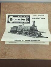 Rosebud Kitmaster Stirling 8Ft Single Locomotive - Instructions Only