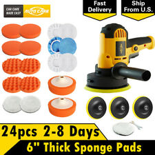 "5"" Rotary Car Polisher Buffer Buffing Pad Kit Polishing Machine & 6"" Sponge Pads"